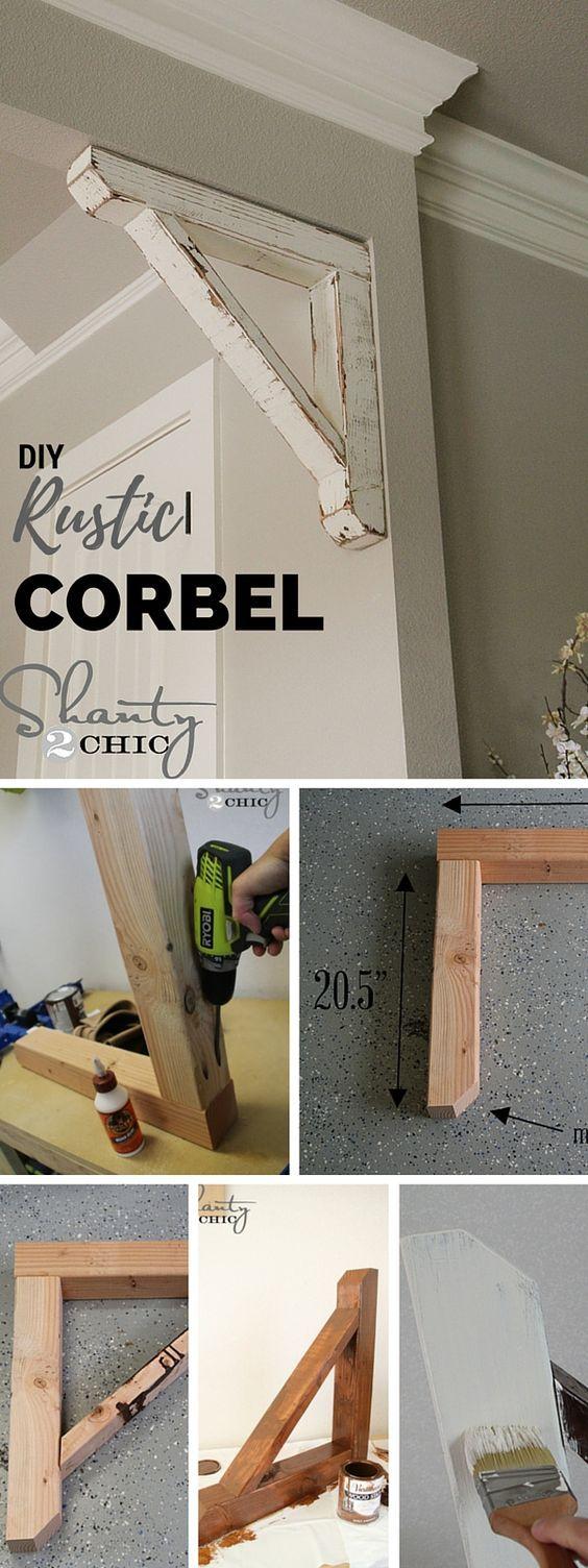 Diy rustic corbel salas de estar tutoriales y rústico