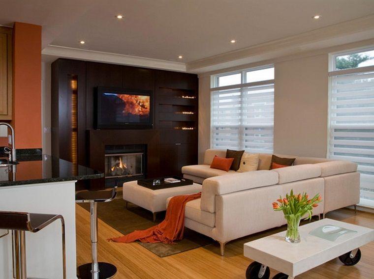 parete attrezzata con camino tv soggiorno stile moderno | INTERIOR ...