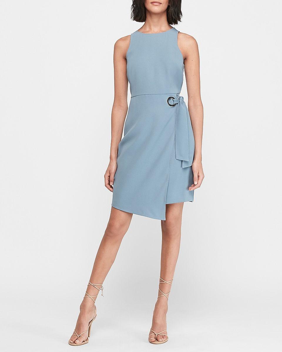 O Ring Wrap Sheath Dress Express Casual Summer Dresses Dresses For Work Work Attire [ 1200 x 960 Pixel ]