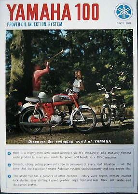 Folheto Antigo Revendedor De Vendas Para Yamaha YL2, YL-2 Rotary Jet 100 Motos | eBay Motors, Peças e acessórios, Manuais e folhetos | eBay!