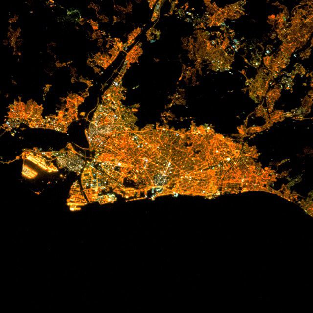 Captured From The ISS At Night