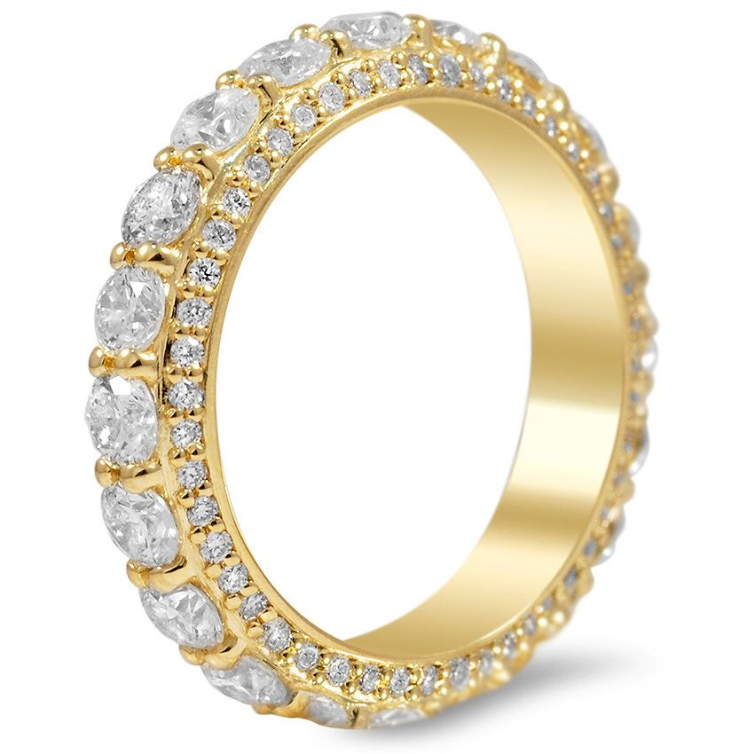 Three-sided Pavé Diamond Eternity Ring