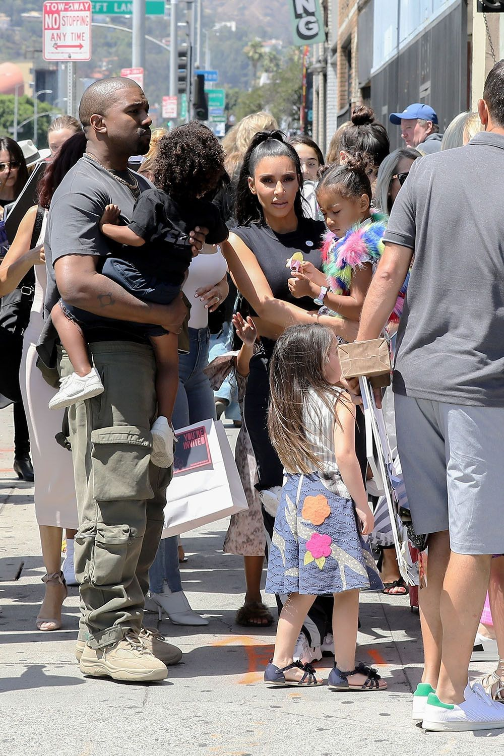 Pin On Kim Kanye West With Family Pic More