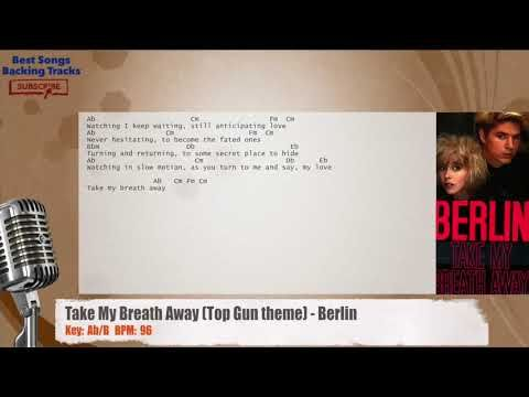 Take My Breath Away Top Gun Theme Berlin Vocal Backing Track