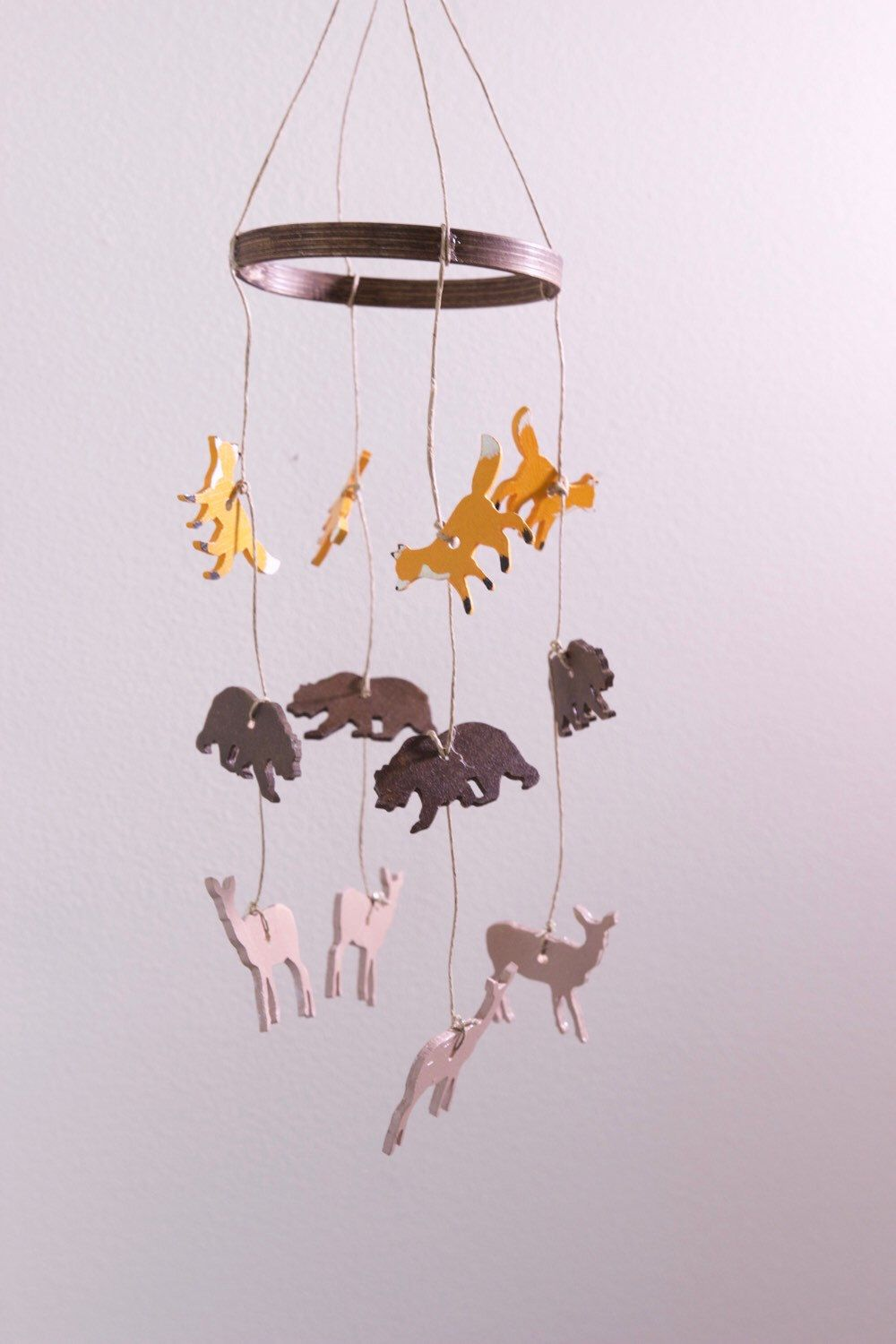 Wooden Baby Mobile Baby Mobile Woodland Wooden Baby Mobile Baby Mobiles Hanging