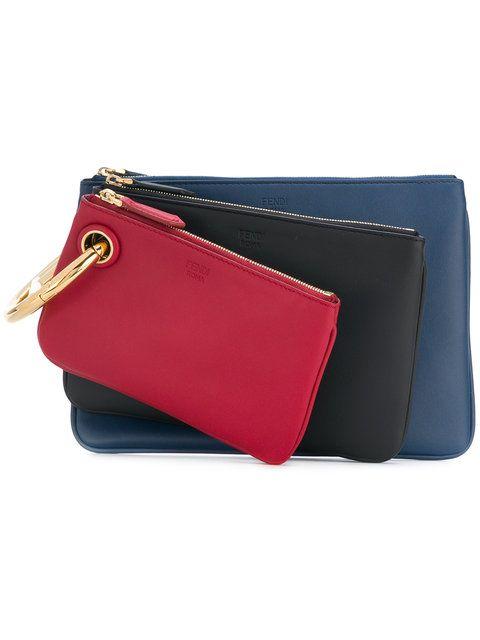 cf7ad7ac09dd FENDI Triplette clutch.  fendi  bags  leather  clutch  hand bags ...