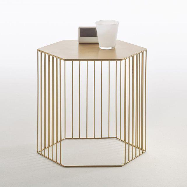 Chevet métal filaire, Topim   Table de chevet métal