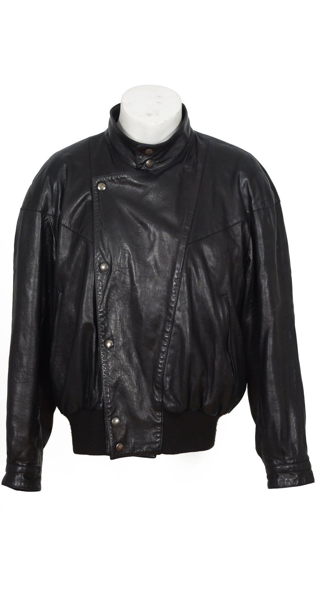 1980s Men S Ideal Cuir Black Leather Jacket Leather Jacket Men Leather Jacket Brown Leather Jacket Men