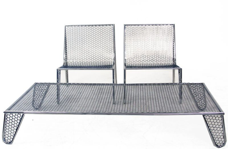 "Set of Four ""Inox"" Chairs by Zanini de Zanine 8"