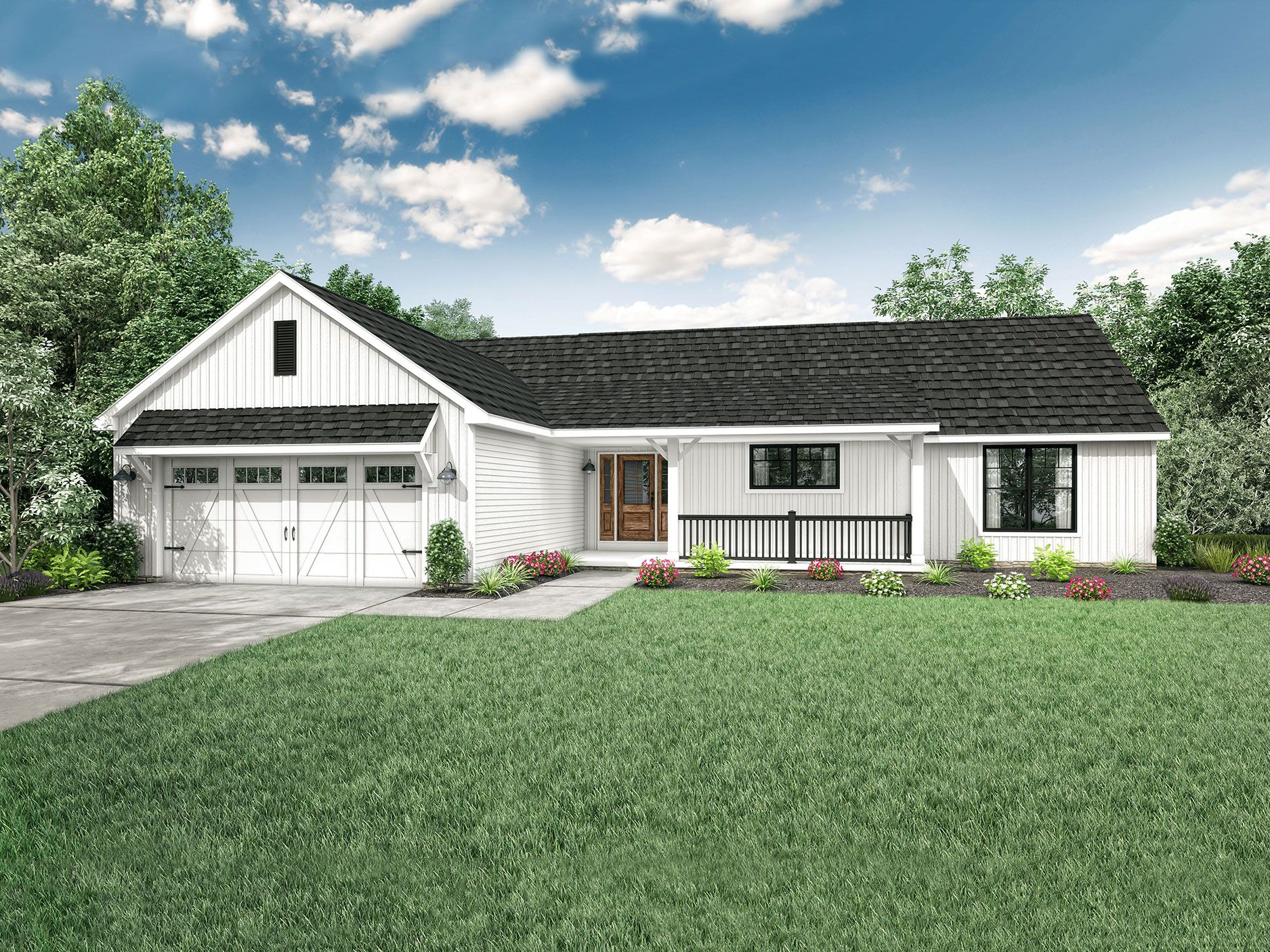 Hanover Floor Plan Ranch Custom Home With Images Wayne Homes