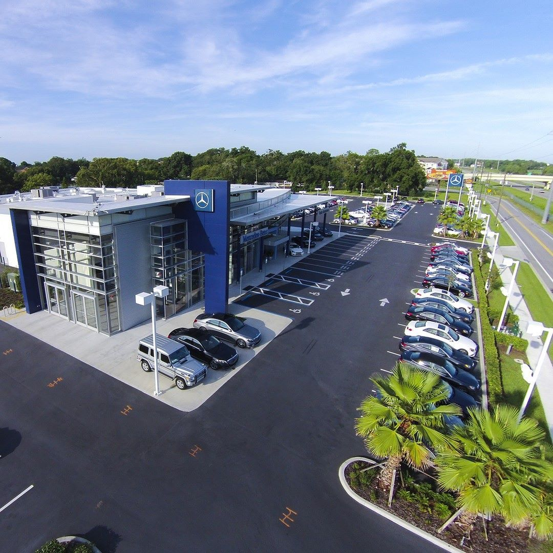 An Aerial View Of Our Mercedes-Benz Dealership Fields
