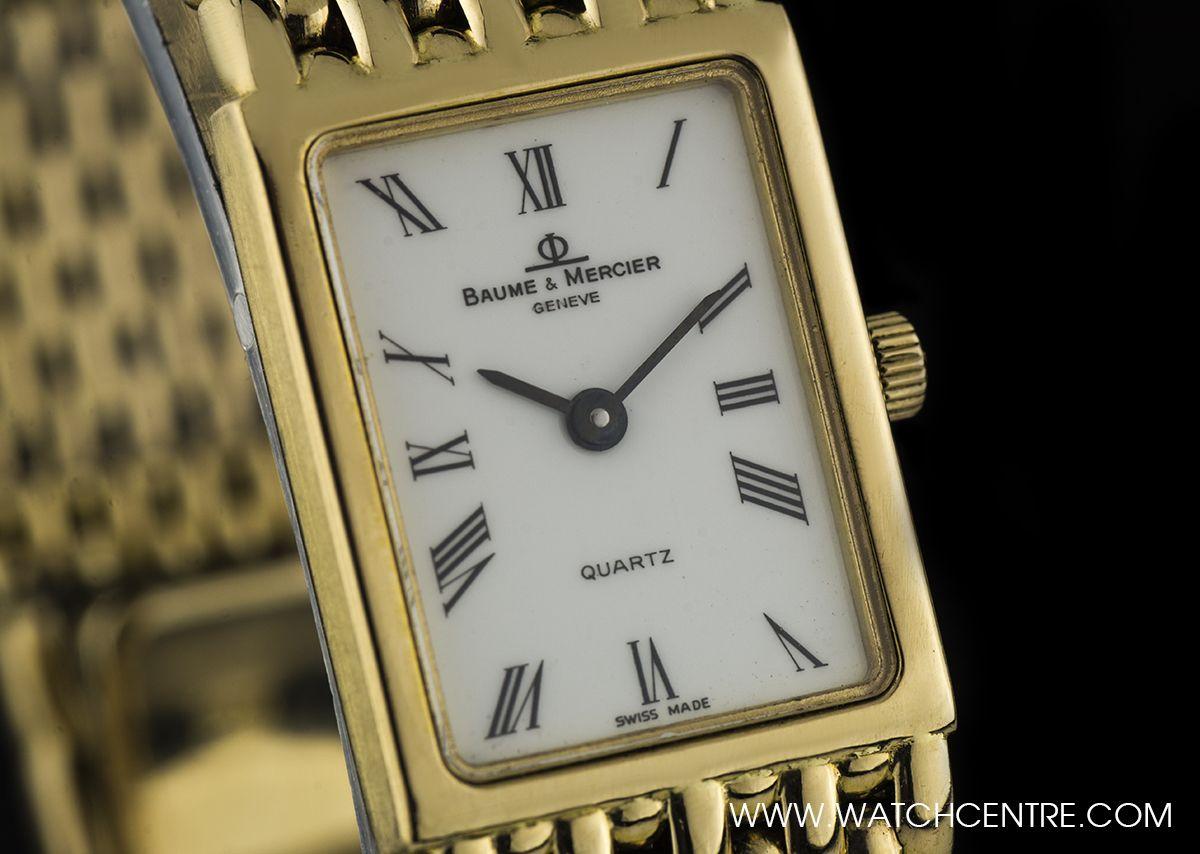 d3458151779 Baume   Mercier 18k Yellow Gold White Roman Dial Ladies Dress Watch. Our  Price  £1