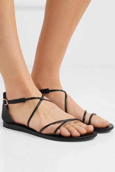 c8e8aa5d2 Ancient Greek Sandals - Meloivia Leather Sandals - Black