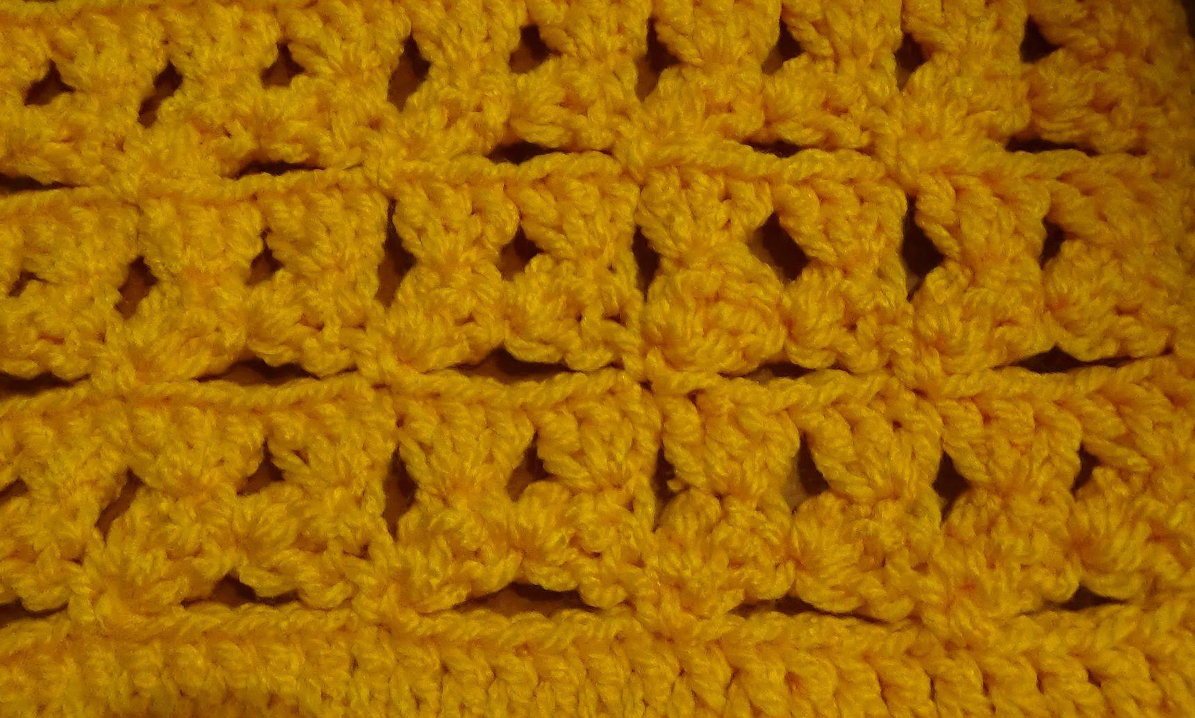 Puntada a crochet, muy fácil, sencilla, divertida y linda. Muestra ...