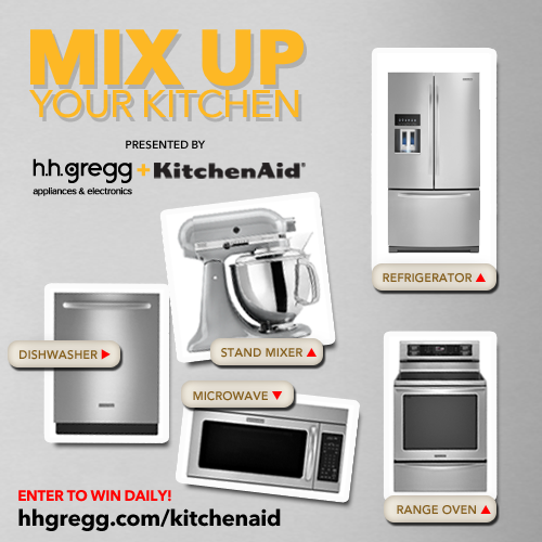 Enter To WIN The U0027Mix Up Your Kitchenu0027 Sweepstakes Presented By H.h.gregg U0026  KitchenAid