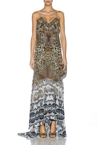 b0f3038f04e Camilla - Roar of the Court   Panelled Long Dress w train now available  in-store and online. Free shipping Australia wide   flat  15 International
