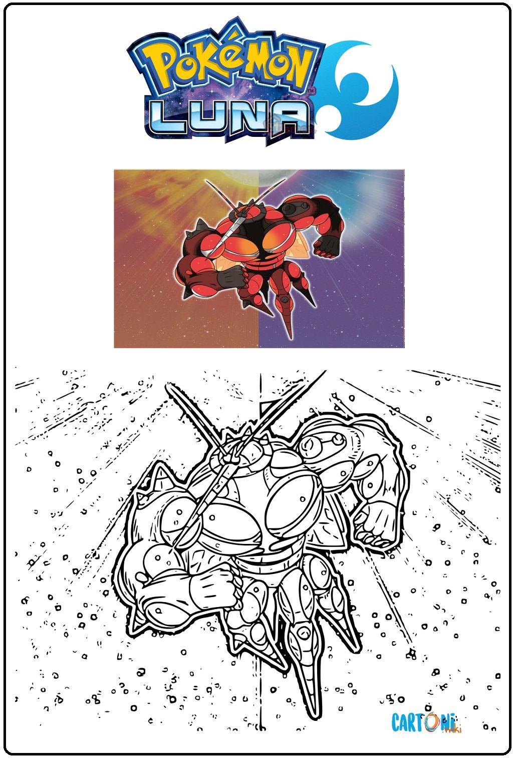 Pokemon Sole E Luna Disegno Uc 02 Da Stampare E Colorare Per Bambini