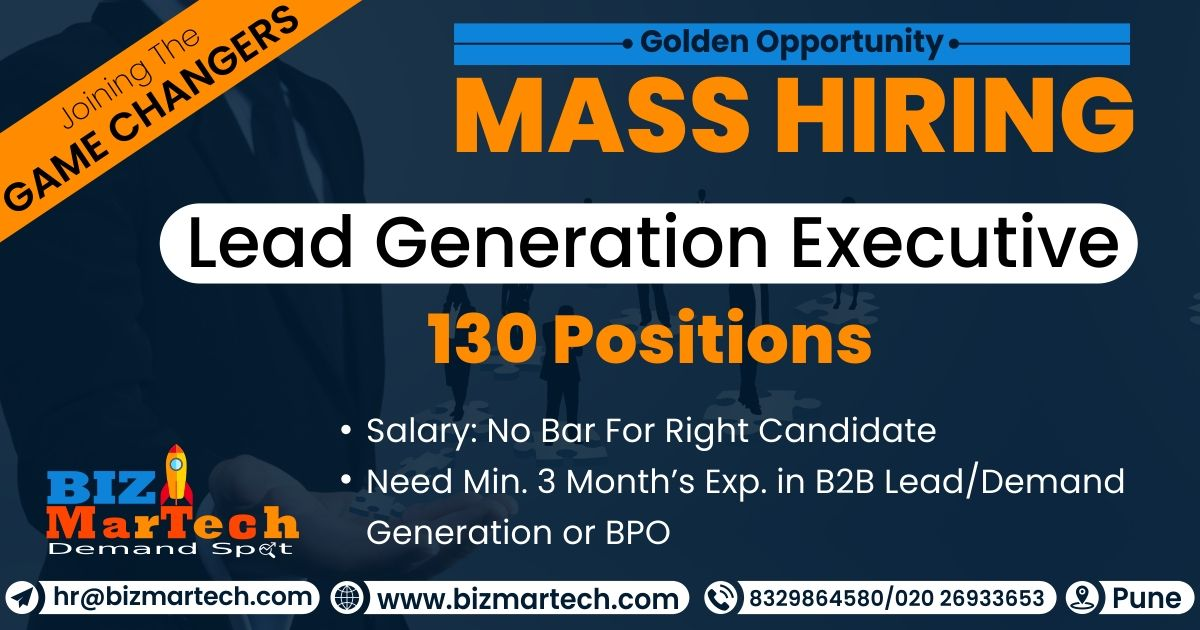 Hi Folks We Are Hiring For Lead Generation Executive For More Info Call On 9309543879 8329864580 Dro Career Management Lead Generation Looking For A Job