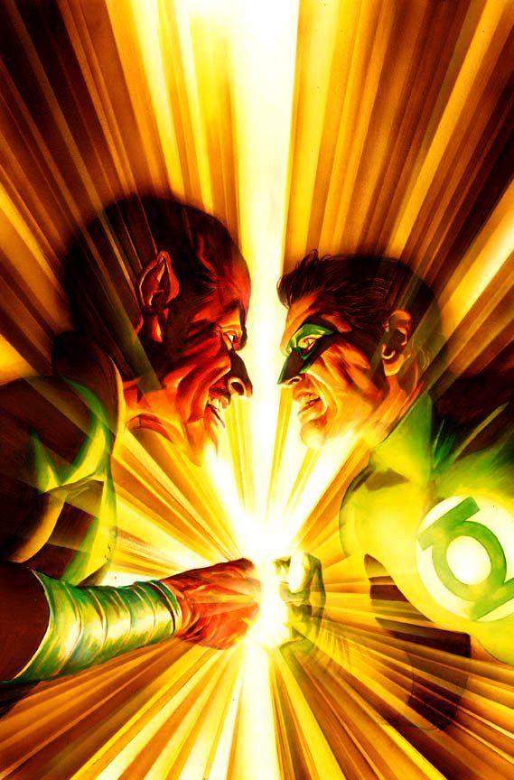Sinestro vs Hal Jordan by Alex Ross