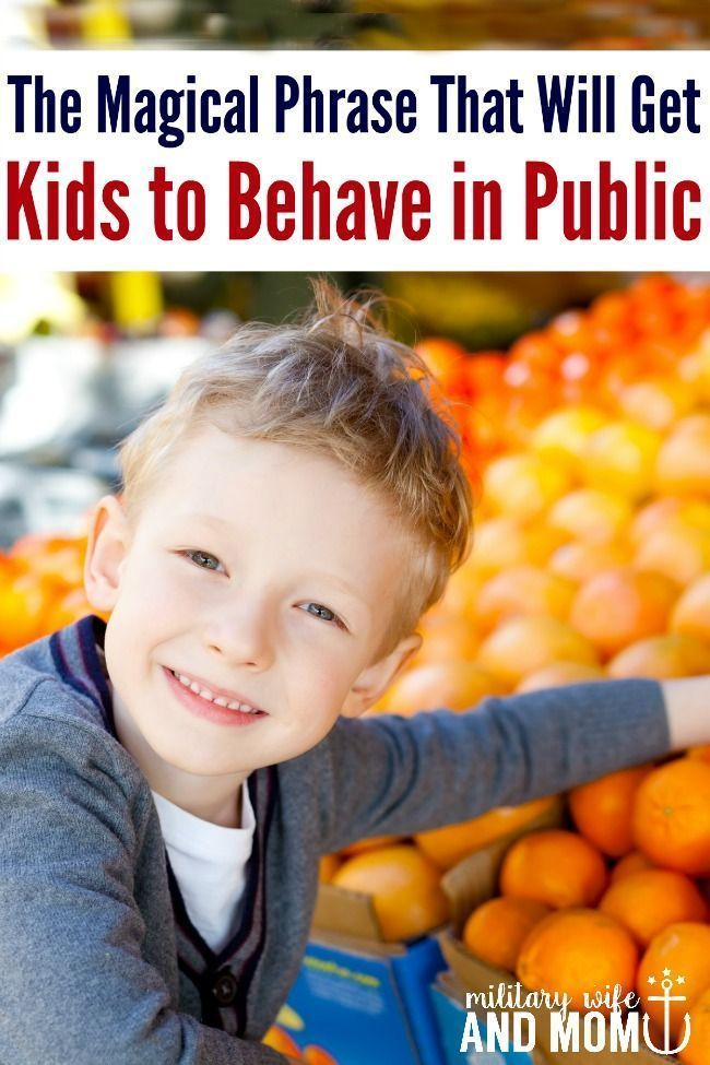 One Miracle Phrase That Will Get Your Kids to Behave in Public