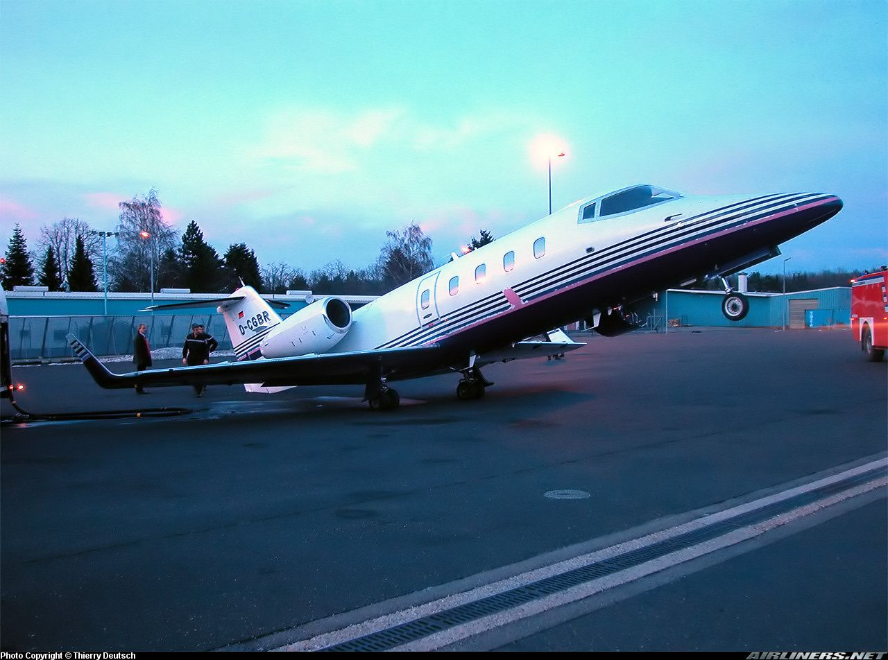 Learjet 55 After the seats had been removed from inside