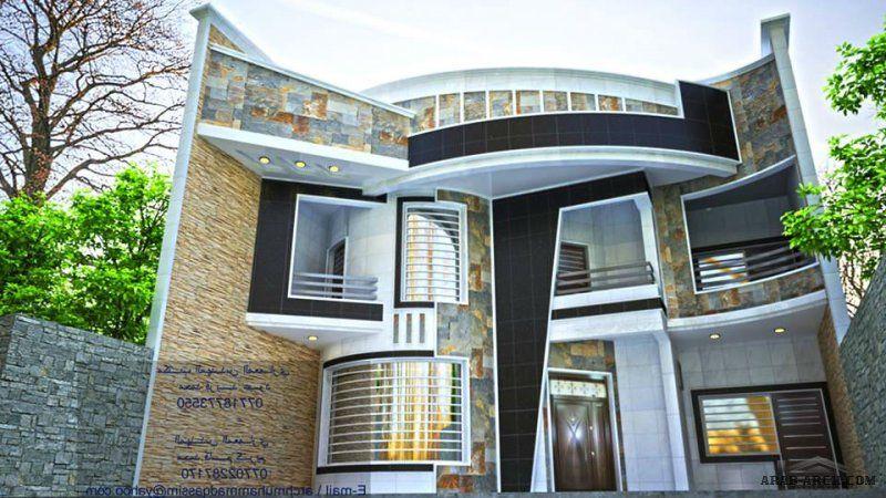 واجهات بيوت العراق مكتب المهندس المعماري محمد فريد عبود Classic House Design Modern House Plans Futuristic Home