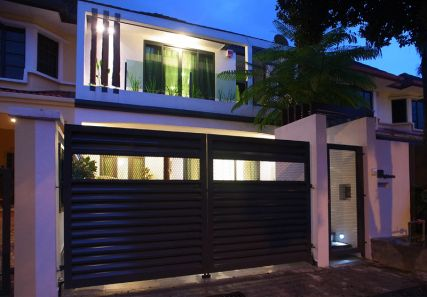 Renovated Sunway Damansara Home Modern Gate Design For Terrace