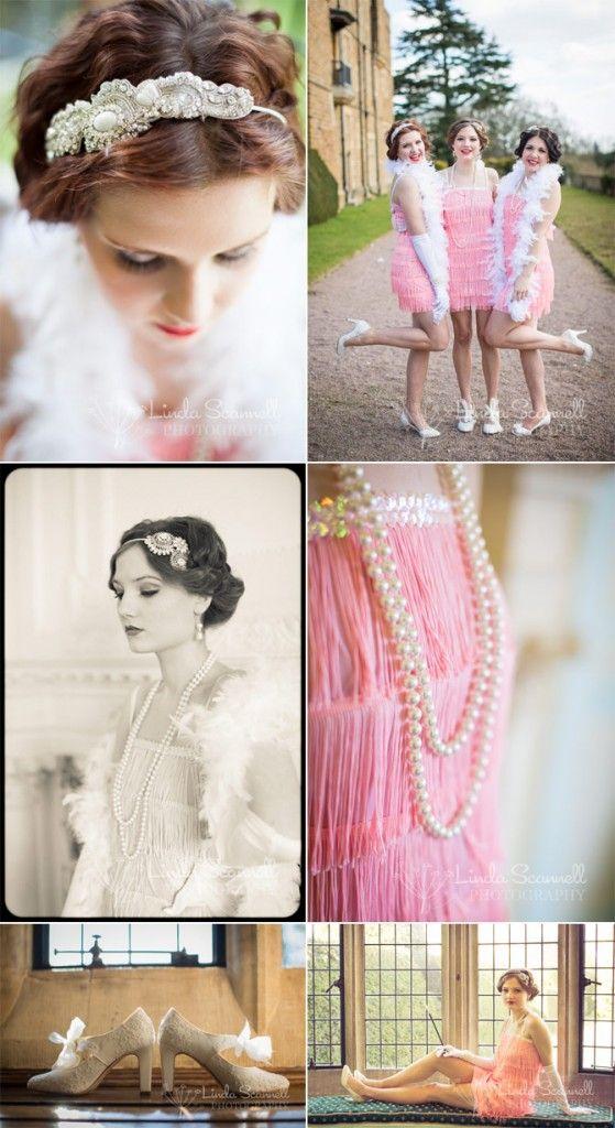 1920 Charlston Flapper Bridesmaid Dresses - 1920s Art Deco inspired ...
