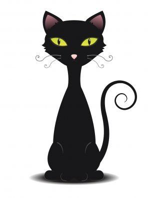 Cartoon Cats Black Cat Illustration Black Cat Tattoos Cats