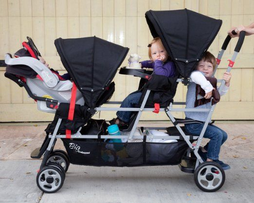 Amazon.com : Joovy Big Caboose Stand-On Tandem Triple Stroller ...