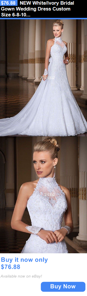 Wedding Dresses: New White/Ivory Bridal Gown Wedding Dress Custom Size 6-8-10-12-14-16++ BUY IT NOW ONLY: $76.88