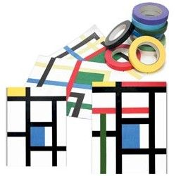 Mondrian Style Art Craft to introduce young people into the world of modern art.