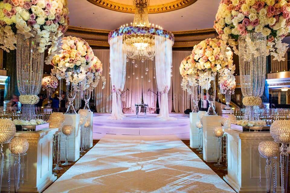 Elegant Drapery At Indoor Ceremony: Beautiful Elegant Indoor Ceremony Setting~ Amaryllis