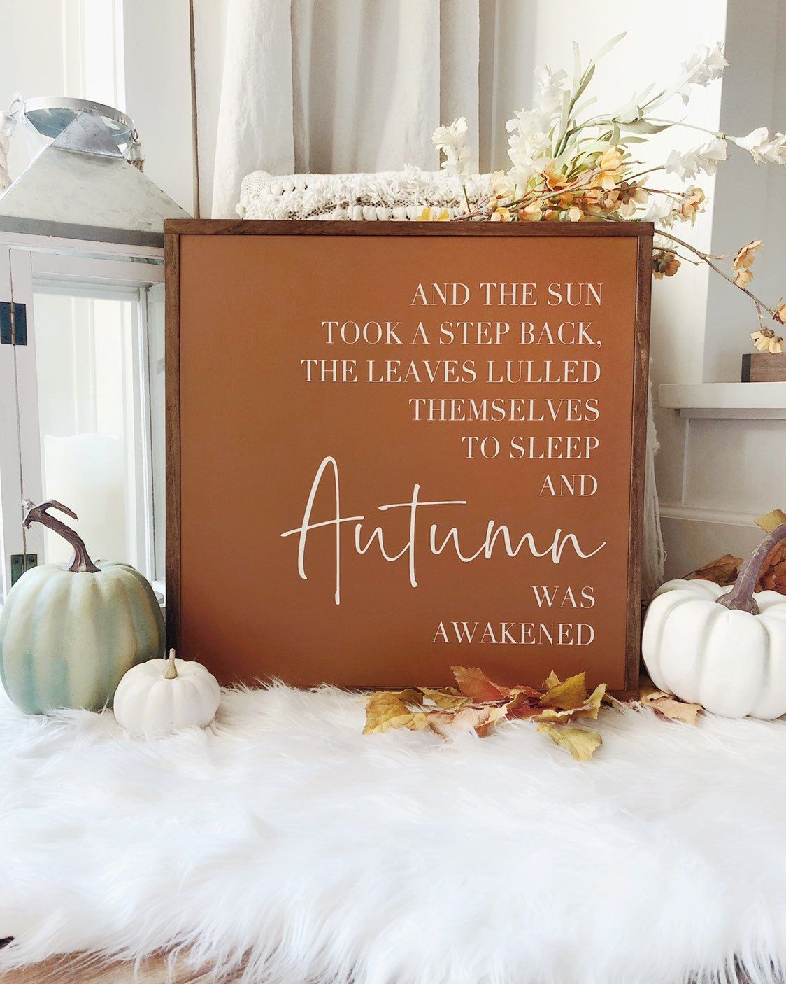 Fall Signs Wood | Hello Fall Sign | Rustic Fall Decor | Autumn Decor #hellofall