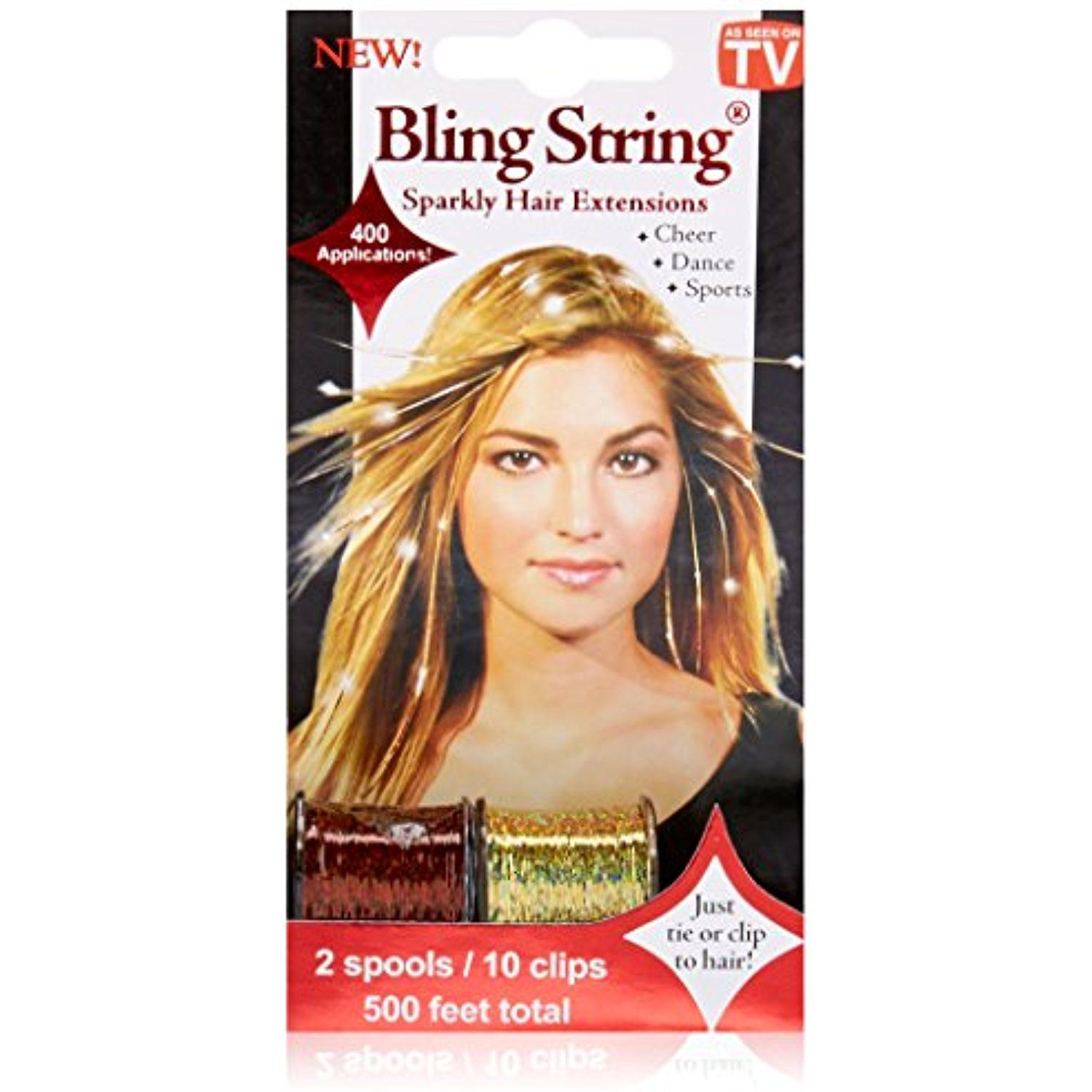 Mia Bling String Sparkly Hair Extensions Tinsel For The Hair On A