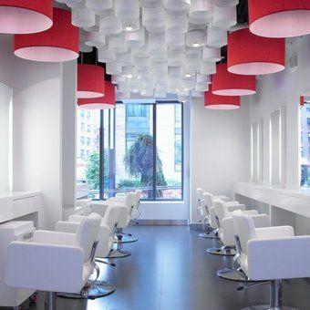 Crisp clean salon design vasken demirjian salon for Salon workspace