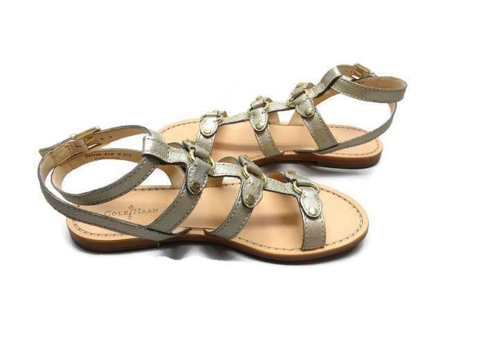Cole Haan Deandra Gladiator Sandal Gold Metallic Hardware NIB Sz 8 1/2B #ColeHaan #Sandal
