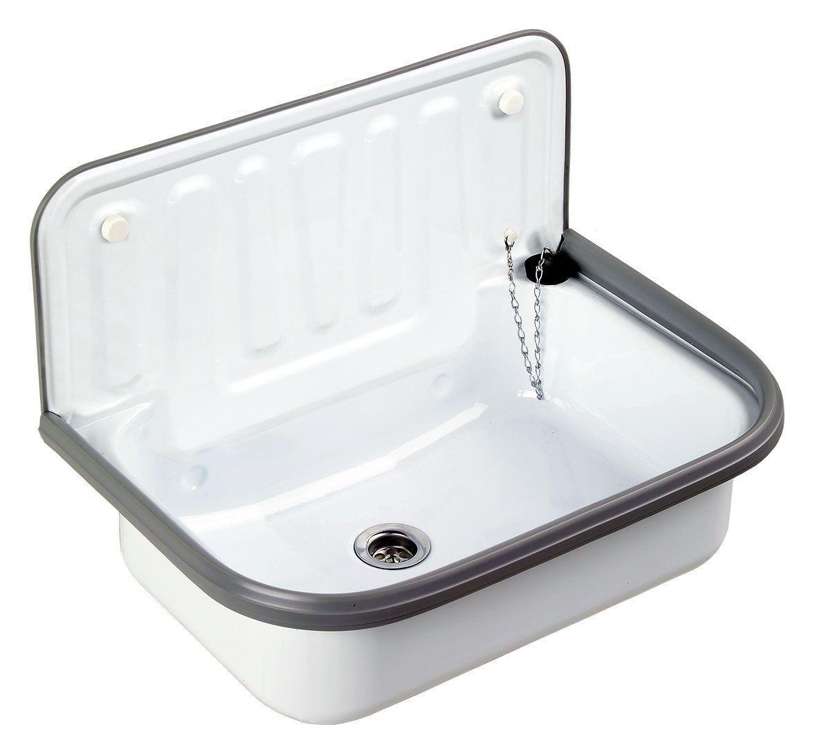 Ausgussbecken Stahl Emailliert Weiss Fur Keller Garten Waschkuche Ebay Ausgussbecken Ausguss Waschbecken