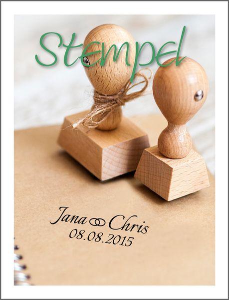 Stempel+für+*+Hochzeit+*mit+Euren+Namen+und+Datum+von+little.nika+auf+DaWanda.com