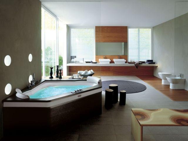 salle de bain moderne avec un jacuzzi toilettes et lavabo ...