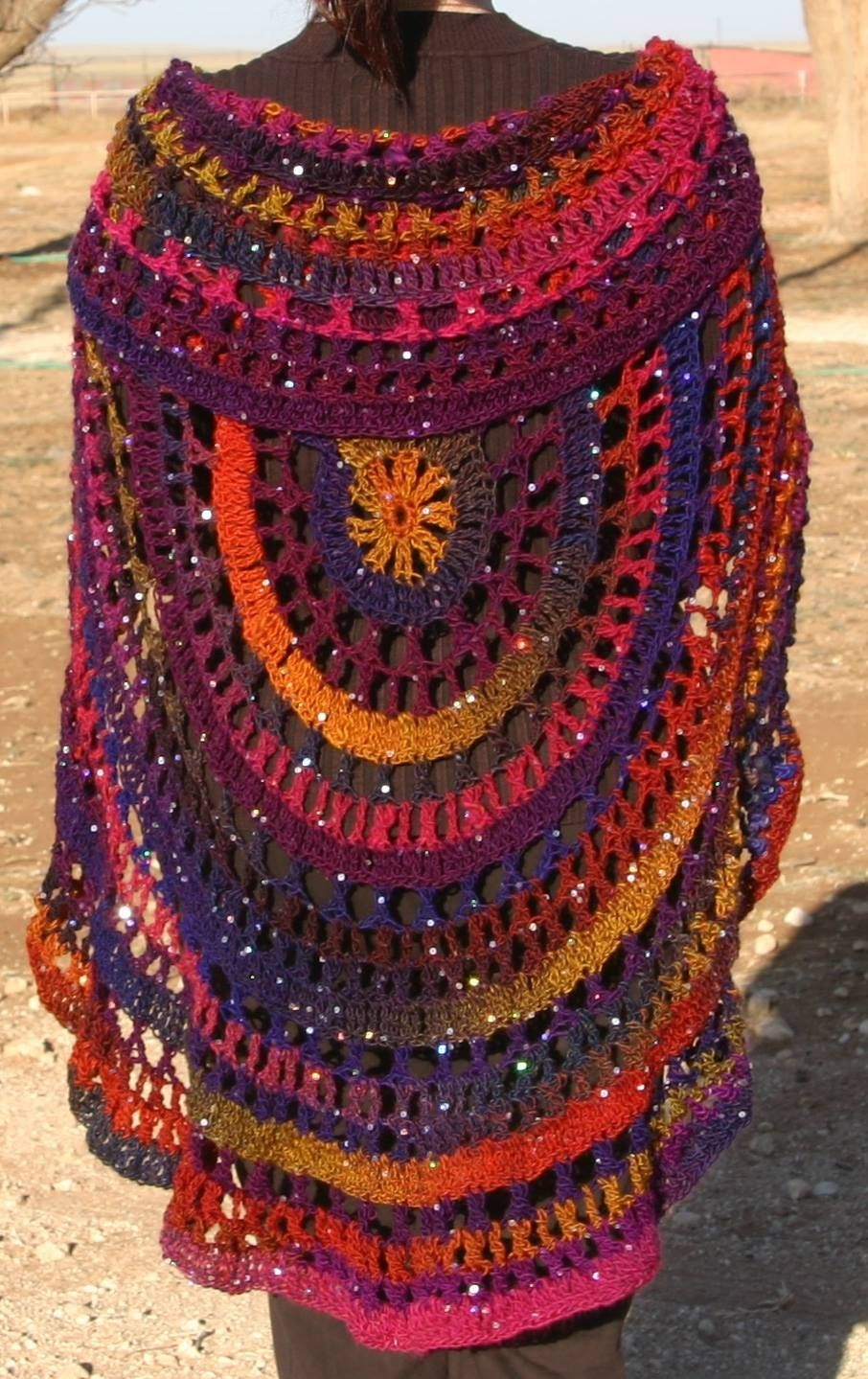 Babette Circle Shawl...Love these colors!! https://www.anniescatalog ...