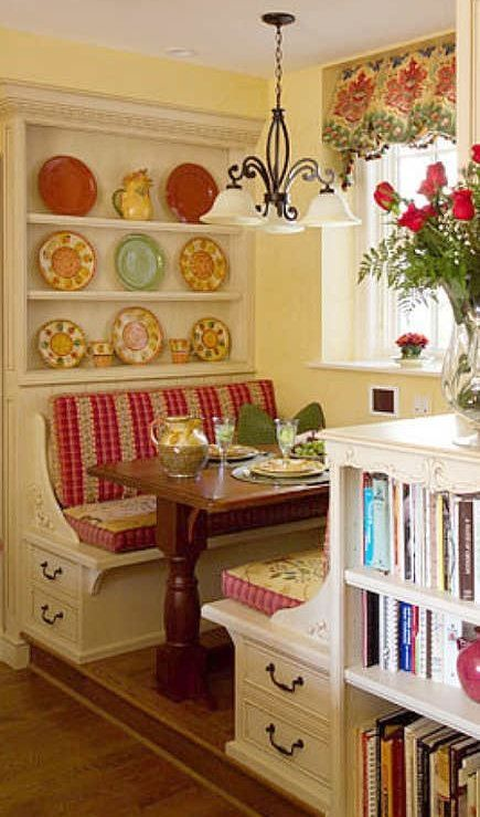 Kitchen Booths Copper Accents Love This Breakfast Nook The Country Look