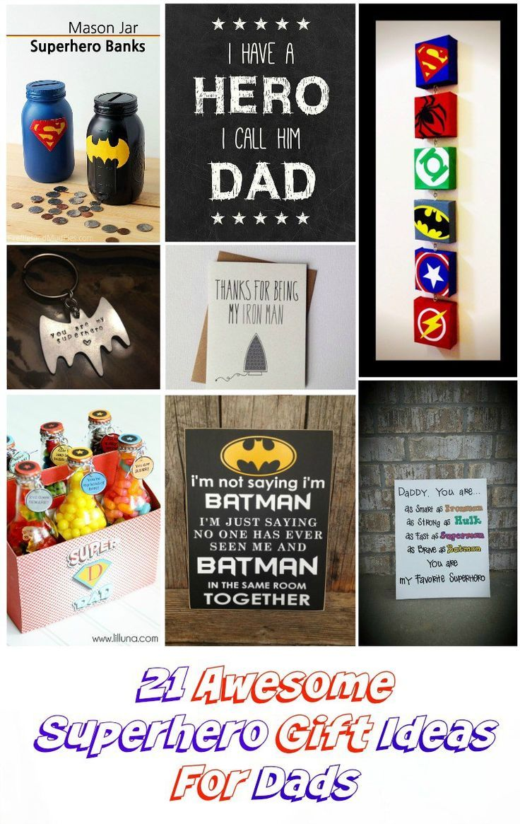 20 Awesome Superhero Gift Ideas for Dads | Gifts | Superhero