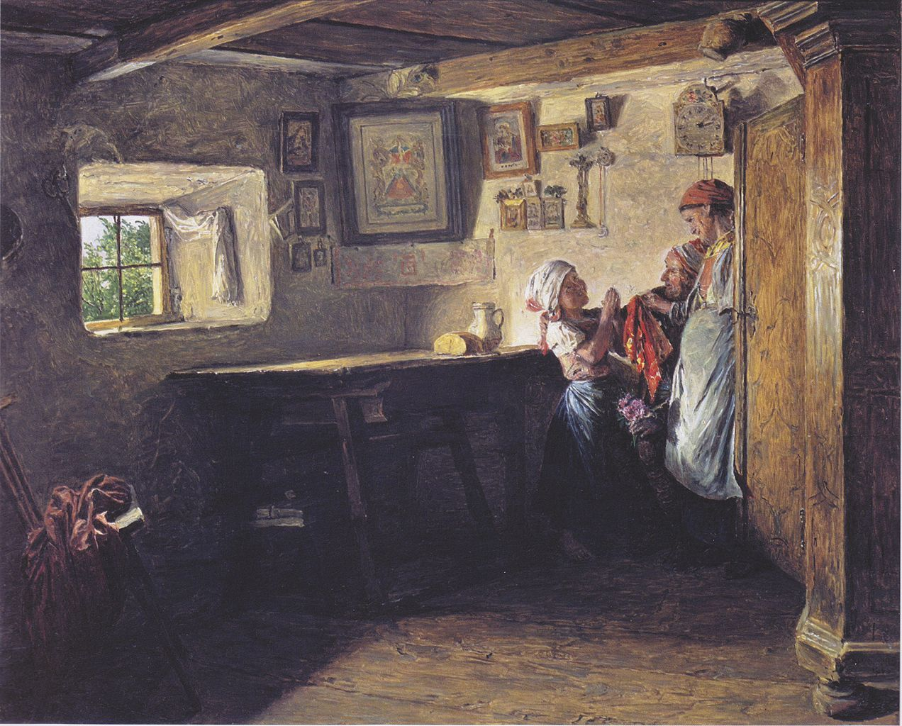 The request of the child (the old chest), 1860 Ferdinand Georg Waldmüller -