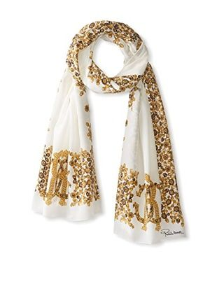White and Gold Scarves