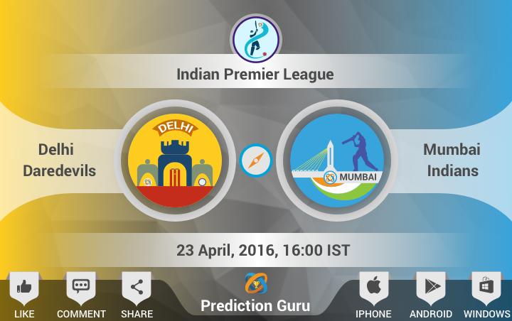 Who will win today ? Delhi VS Mumbai DelhiDaredevils