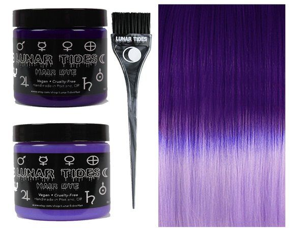 DIY Ombre Violet Purple Hair Dye KIt in 2019 | Products