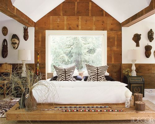 elle decor african bedroom is part of African bedroom Themes - posted on www aphrochic blogspot com June 1, 2009