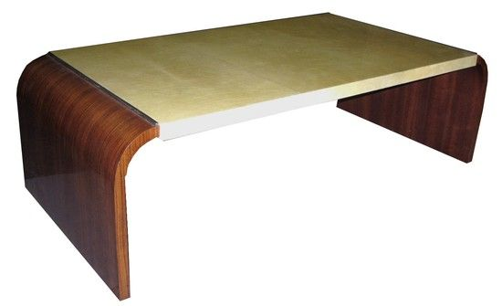 This French Streamline Art Deco Coffee Table Dates From Ca. 1935. The  Central Portion
