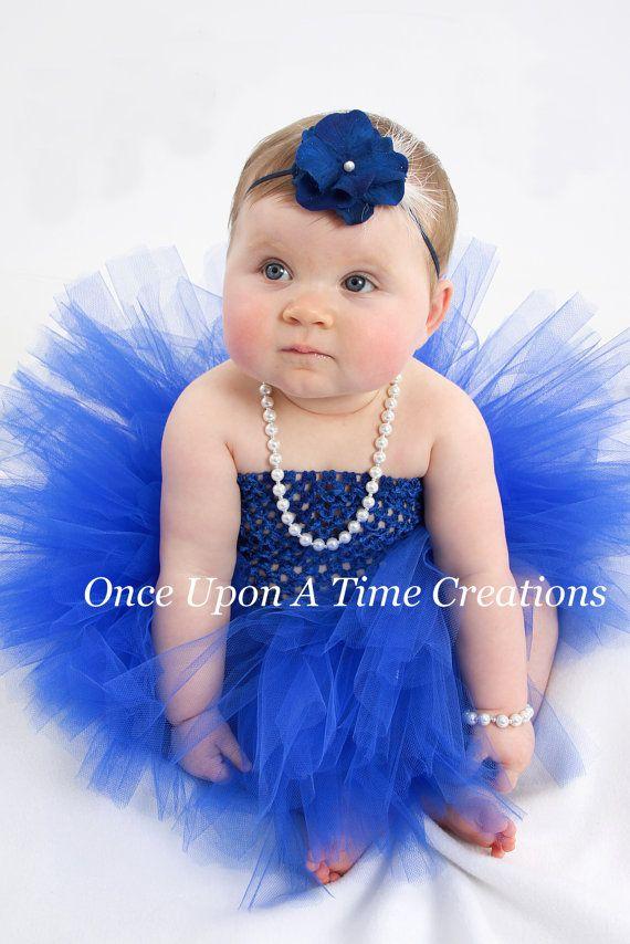 Royal Blue Tutu Dress Hanukkah Tutu First Birthday